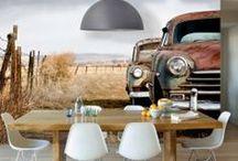 Cocinas y comedores inspiradores @decoraciondepared: / Sorprende a tus comensales con originales #fotomurales y #vinilos para ambientar tu cocina, restaurante o cafetería. Muéstrales los diferentes tipos de pasta, variadas especias, fruta fresca o coloridas verduras. ¡Se les abrirá el apetito!