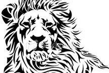Transzfer minták - oroszlánok, tigrisek, leoporádok (transfer patterns - lions, tigers, leopards)
