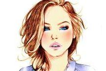 Lány rajzok
