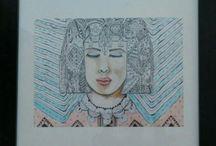 watercolor art by Maha Khatib