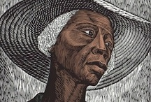 Elizabeth Catlett / An American -born Mexican sculptor and printmaker and alaround renaissance woman best known for her expressionistic sculptures and prints produced during the 1960s and 70s of black culture.
