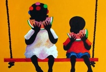 Adrian Gomez / A Costa Rican artist who celebrates the black culture in Costa Rica. He was born in April 26, 1950.