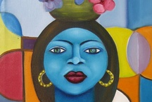 Fritzner Alphonse / An Haitian born artist in Port-au-Prince on July 18, 1938 who often depicts portraits of the Creole woman and still lifes. He was a childhood friend of Calixte Henri.