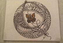 Zenadoodle❤️ / Zentangle  Doodle Art   / by Pam Wilson