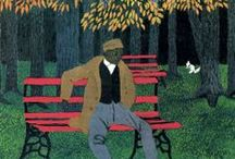 Horace Pippin / A self-taught African-American painter who painted the injustice of slavery and American segregation figured prominently in his works.