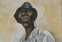 """Charles Alston / Charles H. """"Spinky"""" Alston was a black artist of the Harlem Renaissance and born of a family of painters where he learned from his father. He designed album covers for Duke Ellington and book covers for poet Langston Hughes."""