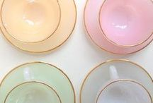 LOVE | Tea Time / One girl's obsession with all things tea.   Pretty tea cups. Alternate uses. Pretty displays.