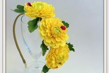 Рукоделие из фоамирана (ревелюра) /   Eva foam Flowers . Flowers with their hands .Ревелюр ,фоамиран .Украшение для волос с цветами .