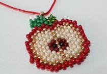 Floral brick stitch