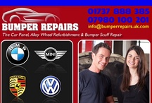 Car Body Repairs / Specialist mobile bumper scuff repair, curbed & scratched alloy wheel refurbishment, paintwork key scratch repair, minor crack and dent removal with full manufacturer paint code and surface texture matching to customers located in many parts of London, Hertfordshire, Essex, Surrey, Kent & Sussex
