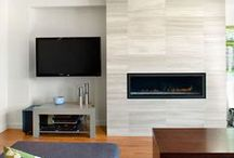 Tile - Fireplace / All kinds of tile fireplaces to get your wheels turning. / by home interiors flooring