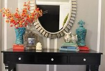 Home: Console Tables / Ideas for decorating or refurnishing console, buffet, or couch tables.