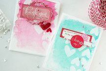 Watercolour Wonder / inspiration to create water colour backgrounds for cardmaking