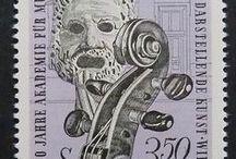 Music stamps / Selos de temática musical: http://www.meloteca.com/philately.htm