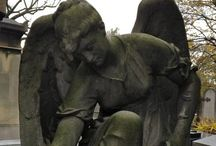 *Engelen (Angels)* / I am too busy to rearrange my boards. On this board I collect angels (mostly cemetery angels).