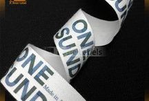 Cotton label / hot sale custom printing cotton label