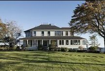 Boston Estate / Our client purchased this estate to facilitate large gatherings of extended family in the summer months. On a quiet island north of Boston, the property occupies the entirety of a city-facing promontory and includes the historic rocky point Cragmere. Henry Wadsworth Longfellow established his summer home on the premises, and wrote several notable poems during his residence. Although his cabin was destroyed by a fire, the historic fieldstone foundations remain tucked away on the property.