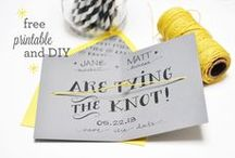 Free Printable Wedding Templates / Free, printable templates to use on your DIY wedding invitations, RSVPs, Order of Service, Save the Date and more; beautiful templates for all your DIY wedding printing needs.