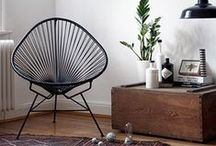 Vintage in modern homes / I love vintage furniture and home decor in modern homes. It really adds personality to a space.