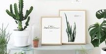 Botanical • Home Decor / Green home, Natural spaces