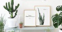 Botanical • Home Decor / Green home, Natural spaces