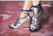 METALLIC SHOES / Silver and Gold Leather Sandals, Boots and Heels.