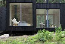 Mini maison, container et préfabriqué.
