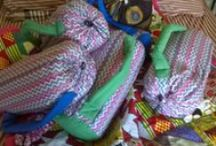 African-print patchwork quilt / Features a patchwork, floral and geometric print in bright, African-print colours - with bags.