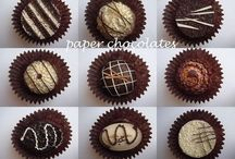 Quilled Chocolates/Cakes/ice cream