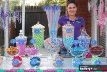 Candy Buffets - Quality / All our buffets are flanked by rock candy trees and a centerpiece of branded giant sticks.