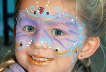 Face painting / I love to face paint, especially girls, cause' they all the fun like rhinestones and glitter. I especially love it when someone will just pick out there favorite colors and let me design a special mask of a new design.