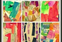 MIXED MEDIA lessons / inspiration, ideas and techniques for teaching mixed media to children