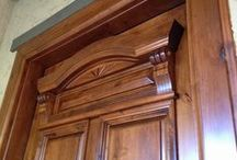 Door Details / Interesting door details can add uniqueness and character to your door.  Whether it is intricate mouldings, carved designs, decorative glass or other details, they can enhance the beauty and appeal of your door.