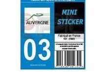 Autocollants plaque immatriculation / Stickers autocollants pour plaques d' immatriculation. Changez le département, ou la région de votre plaque avec nos stickers de plaque.