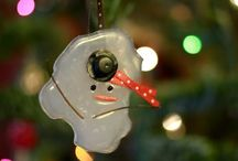 Cute Christmas ornaments / Ornament ideas for  next year's craft bazaar