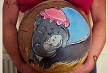 Bump painting - Belly painting / Works of art on the beautiful pregnant form   https://www.facebook.com/My.Little.Sweetpea.Murals