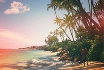 Sun Swim Sea ☀ / Sunshine, swimming, the sea, ocean waves, sandy beaches, bikinis, tropical and exotic locations, pools, sailing, clear turquoise water, and inspiring beach quotes.