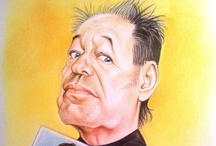 Famous People Caricatures - My works / Handmade Caricatures.. Caricature di personaggi famosi realizzate a mano, tecnica matita e pastelli colorati.