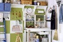 Garagem e organização / Sempre temos coisas e mais coisas pra guardar, não é mesmo? Quem mora em casa e tem uma garagem à disposição pode organizar tudo direitinho! Mas se você mora em apartamento, sempre tem um jeitinho...