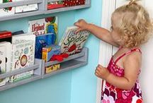 Quartos Infantis e organização / Se você tem filhos e está a procura de soluções pra pôr ordem na bagunça.... então olha aí e inspire-se...