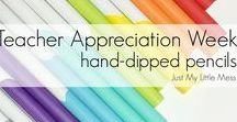 Teacher Appreciation / Amazing teacher appreciation ideas and inspiration. Creative gifts, idea, projects and printables that say thank you to the awesome teachers in our lives.  Teacher Appreciation week is usually sometime in April or May.