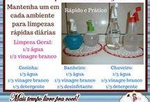 Dicas da Amigas do Lar / Dicas úteis de organização e higienização pra manter a casa sempre limpa e organizada...