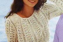 пуловер спицы