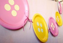 """Birthday party: Cute as a Button theme / Party Planning Inspiration for a """"Cute as A Button"""" themed birthday party. Food ideas, party decor, party favors, table settings, games and activities, invitations, printables, party attire, cake and cupcake ideas and more! Cute baby shower idea too!"""