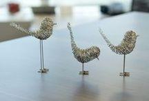 Arte em Arames / Arte feita a partir de restos de arames entre outros derivados de ferro,vidro, plástico e pedra.
