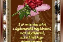 Nice messages / Szép üzenetek mint jó reggelt szép napot és jó éjszakát.