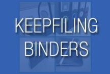 Keepfiling Binders / Keepfiling binders are professional looking and reliable.  They are designed in Denmark and made with quality materials.  Unlike some of the other binders on the market that are flimsy, Keepfiling uses up 65% recycled polypropylene material to ensure it's durability for long term usage.  Binders are all equipped with black coated D-rings which are easy to open and close. We have a wide range available, from small 5.5x8.5 to standard letter and legal size, and even larger ones like 12x12 & 14x17.