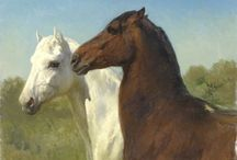 """ART : Rosa Bonheur / Rosa Bonheur, born Marie-Rosalie Bonheur, (16 March 1822 – 25 May 1899) was a French animalière, realist artist, and sculptor. As a painter she became famous primarily for two chief works: """"Ploughing in the Nivernais""""  which was first exhibited at the Salon of 1848, and is now in the Musée d'Orsay in Paris, and """"The Horse Fair"""" which was exhibited at the Salon of 1853 (finished in 1855) and is now in the Metropolitan Museum of Art, in New York City. (wikipedia)"""