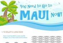 Maui: Infographics / Choose a smart vacation that will bring your happiness here on Maui!
