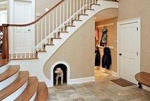Vstup do domu & předsíň & schodiště
